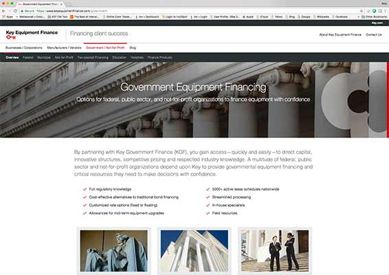 key equipment finance government website